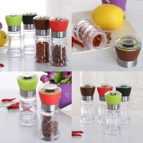 US Salt Pepper Grinder Spice Peppercorns Hand Mill Grinder