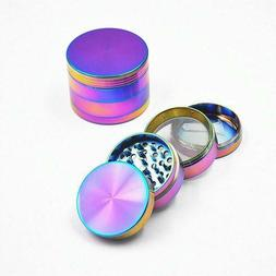 Large Colorful Spice Tobacco Herb Weed Grinder-5 Pcs with Po