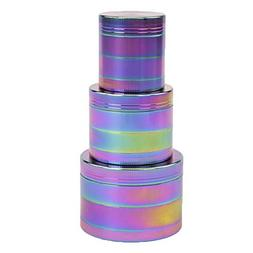 """OUZIFISH 4-Piece Magnetic 2.5"""" Tobacco Herb Grinder Spice Al"""