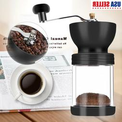 Manual Coffee Grinder Mill Hand Adjustable Conical Ceramic B