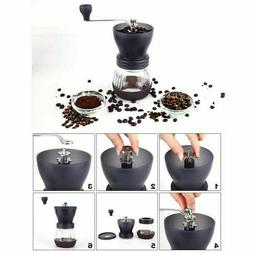 Manual Coffee Grinder Mill Hand Beans Nuts Adjustable Conica