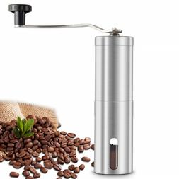 Manual Coffee Spice Pill Grinder Stainless Steel Body Cerami