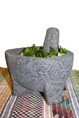 Molcajete Guacamole Basalt Lava Stone Mortar and Pestle Spic