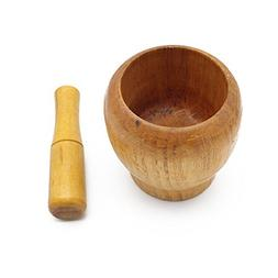 Mortar and Pestle, Wooden Spice Grinder Tools Kitchen Utensi