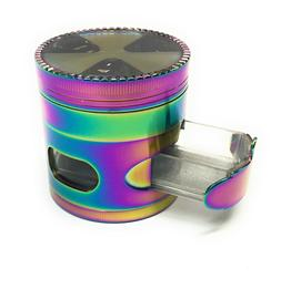 New 2.5 Inch 4 Piece Rainbow Tobacco Herb Spice Grinder With