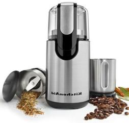 New KitchenAid BCG211OB Onyx Black Blade Coffee and Spice Gr
