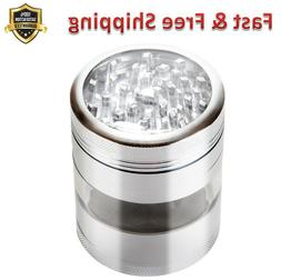 Pagoda Tower Spice and Herb Grinder 2.5 in Silver 100 Micron