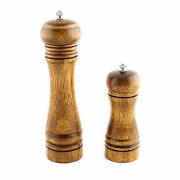 Pepper Spice Herb Grinder Wooden Cruet Mill Condiment Grindi