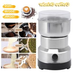 Portable Electric Coffee Grinder Bean Nut Grind Spice Crushe