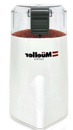 Precision Electric Spice/Coffee Grinder also for Nuts White