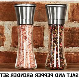 SALT AND PEPPER GRINDER SET 2 Shakers Spices Mill Crusher St