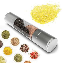 SUPOW Salt & Pepper Grinder 2 in 1 Dual Salt & Pepper Mill G