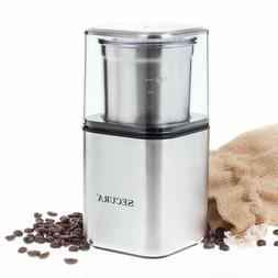 Secura Electric Coffee & Spice Grinder Coffee Blade Grinders