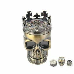 skull tobacco grinder herb spice crusher accessories