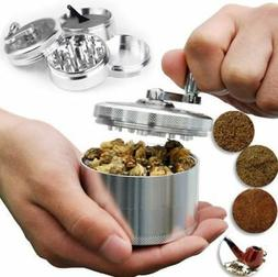 "Skyndi Herb Grinder Crusher for Tobacco Spice 4 Piece 2"" Sil"