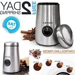 Small Electric Coffee Grinder Mini Spice Herbs Nut Bean Grin
