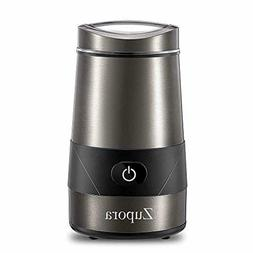 Spice and Coffee Grinder with Stainless Steel Blades and Cle