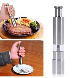 Spice Grinder, Manual Pepper Mill Stainless Steel Salt Grind