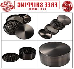 "LIHAO 4 Piece 3"" Spice Herb Grinder - Nickle Black"