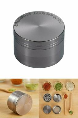 Spice Herb Grinder Crafted heavy duty zinc Golden Bell 4 Pie