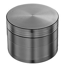 "OMorc 4 Piece 2"" Spice Herb Grinder - Nickel Black"
