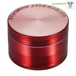 "Golden Bell 4 Piece 2"" Spice Herb Grinder - Red"
