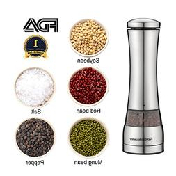 Electric Pepper Grinder or Salt Mill, Stainless Steel Salt a