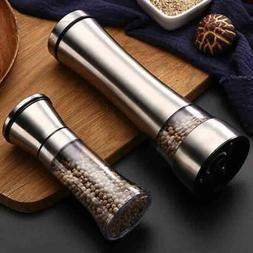 Stainless-Steel Manual Pepper Grinder Salt Spice For Cooking