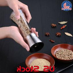 Stainless Steel Manual Pepper Grinder Salt Spice for Cooking