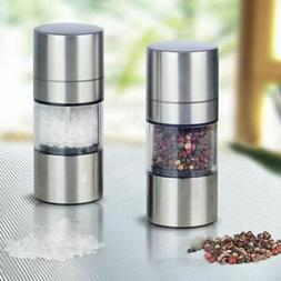 stainless steel manual pepper salt spice mill