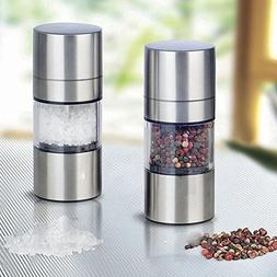 Stainless Steel Manual Salt Pepper Mill Grinder Seasoning Mu