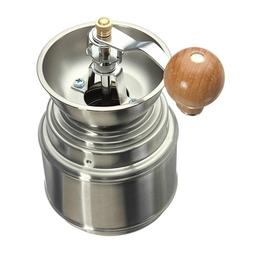 Stainless Steel Manual Spice Bean Coffee Grinder Burr Mill H