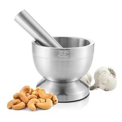 Stainless Steel Mortar and Pestle Medication Seeds Spices Te