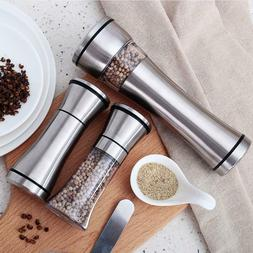 Stainless Steel Muller Manual Pepper Salt Spice Mill Grinder