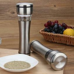 Stainless Steel Muller Manual Pepper Salt Spice Mill Home Ki