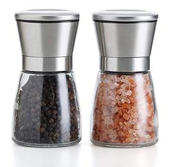 JQWORKLAND Premium Stainless Steel Salt and Pepper Grinder S
