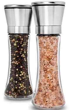 Premium Stainless Steel Salt and Pepper Grinder Set of 2 - A