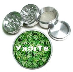 Sticky Weed 4Pc Aluminum Tobacco Spice Herb Grinder