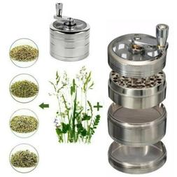 "Herb Grinder Crusher for Tobacco 4 Piece 2.5"" Zinc Hand Mull"