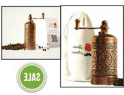 Turkish Handmade Grinder Antique Copper Coffee Salt Pepper S