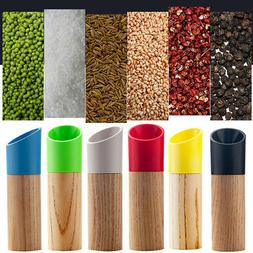 Wooden Salt Pepper Spice Grinder Manual Mill Home Practical
