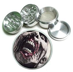 Zombie 4Pc Aluminum Tobacco Spice Herb Grinder